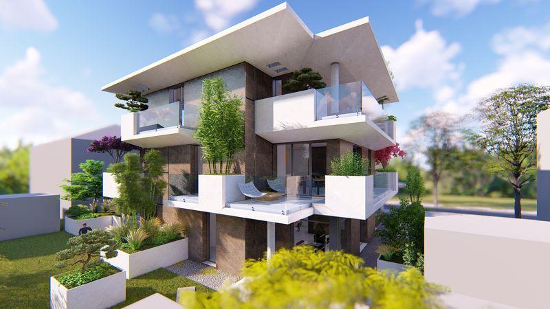 Fano Viale Europa progettazione ex-novo 5 unità residenziali